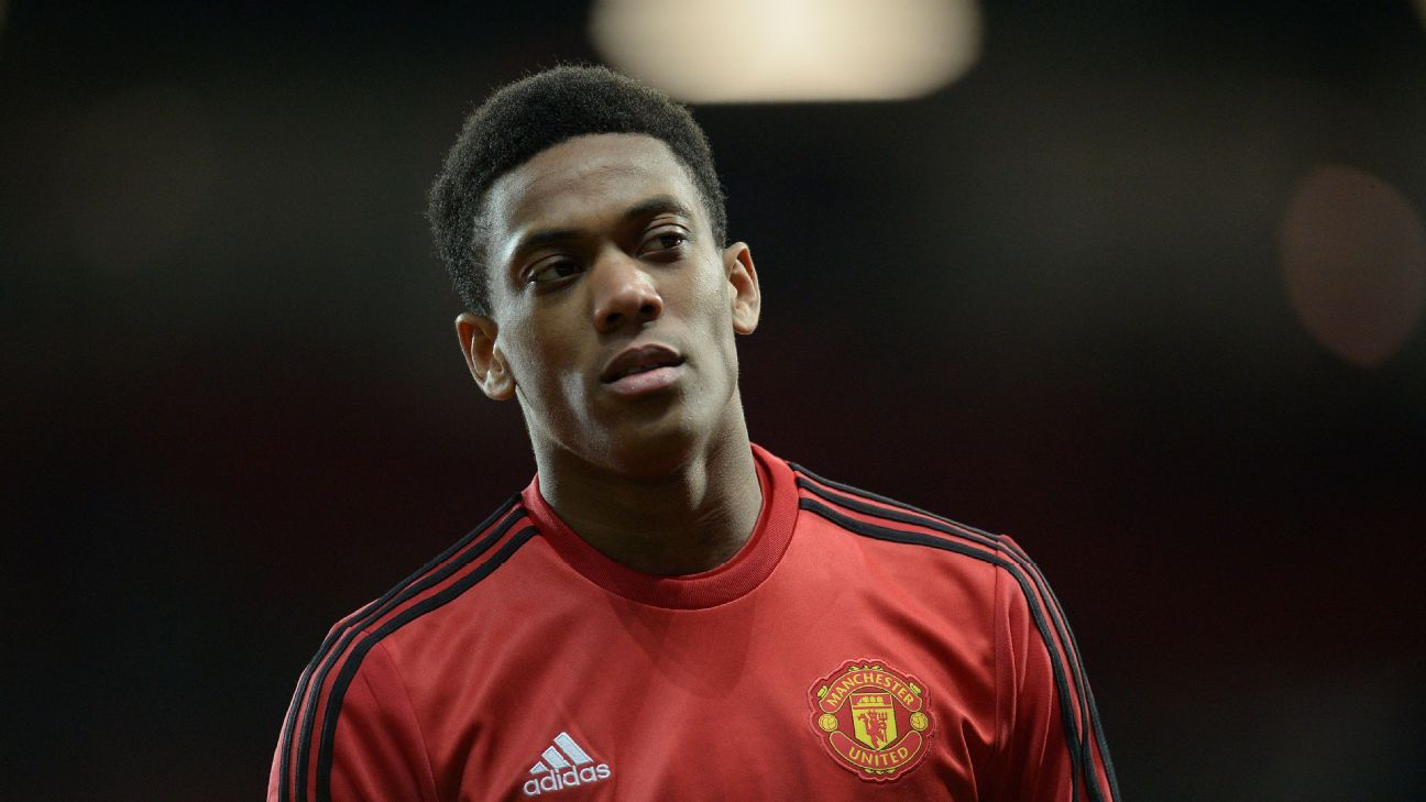 Manchester United's injury woes continued even before kickoff, as Anthony Martial was scratched late.