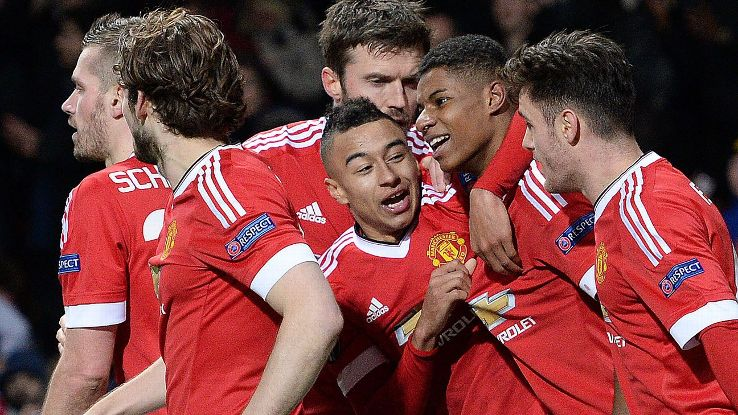 Manchested United exploded for three goals in the final 15 minutes to see off FC Midtjylland in the Europa League.