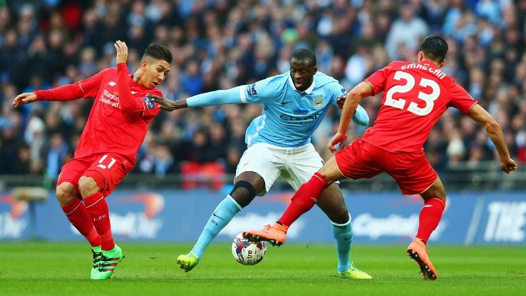 Yaya Toure was a rock in the midfield for Manchester City in Sunday's Capital One Cup final vs. Liverpool.