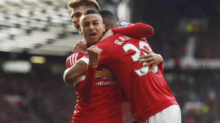 Old Trafford is witnessing a rebirth, and it is being led by Jesse Lingard, left, and Marcus Rashford, right.