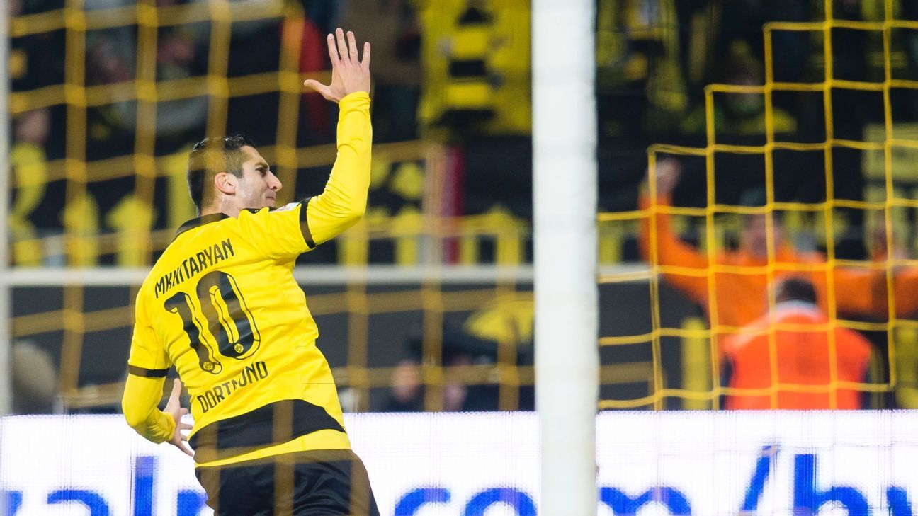 Henrikh Mkhitaryan's 80th minute goal paved the way for Dortmund's comeback against Hoffenheim.