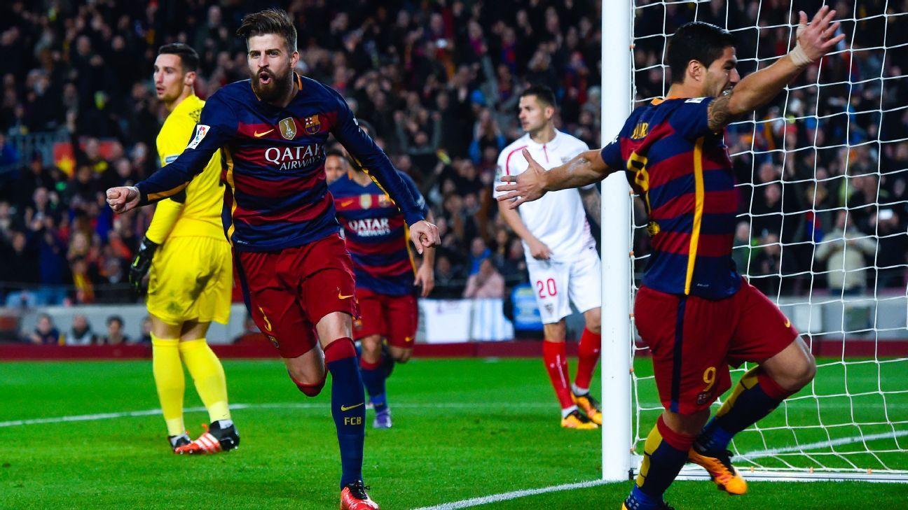 Pique Celeb Barca Sevilla 160228
