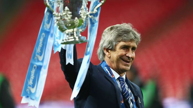 Manchester City manager Manuel Pellegrini won his second Capital One Cup title in three seasons following Sunday's penalty shootout win over Liverpool.