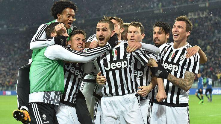 Juventus celebrations vs. Inter