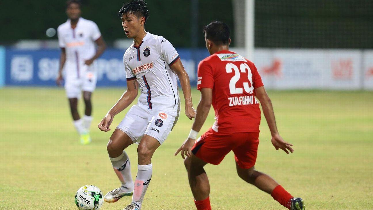 Warriors midfielder Emmeric Ong