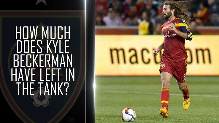 How much does Kyle Beckerman have left in the tank?