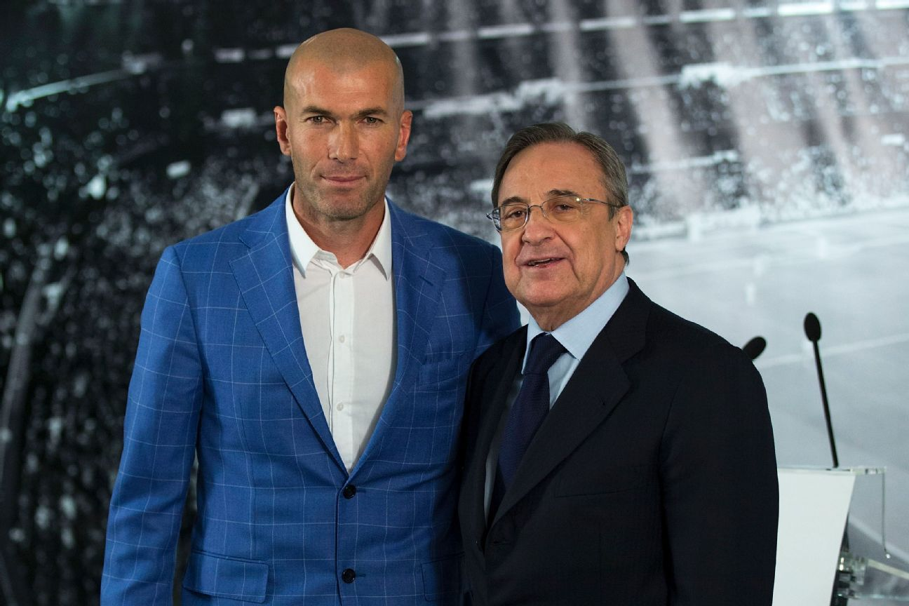 Image result for Zinédine Zidane real manager