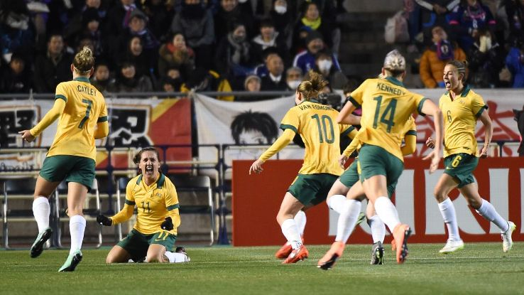 Australia women's team vs. Japan