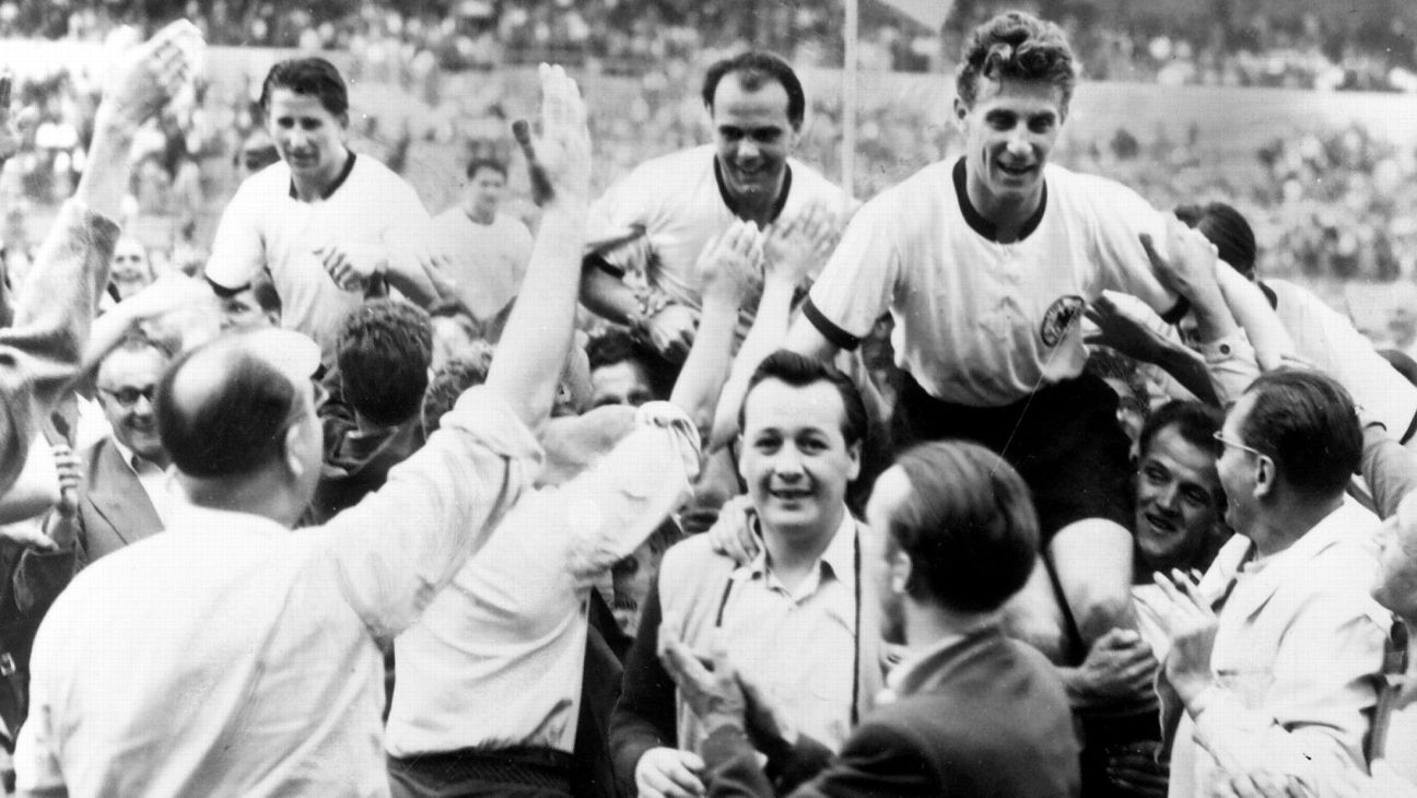 West Germany celebrate at 1954 World Cup