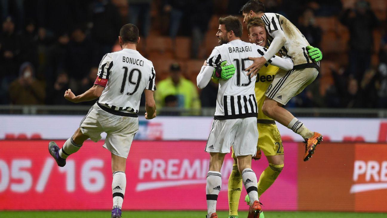 Juventus celebrations vs. Inter Milan