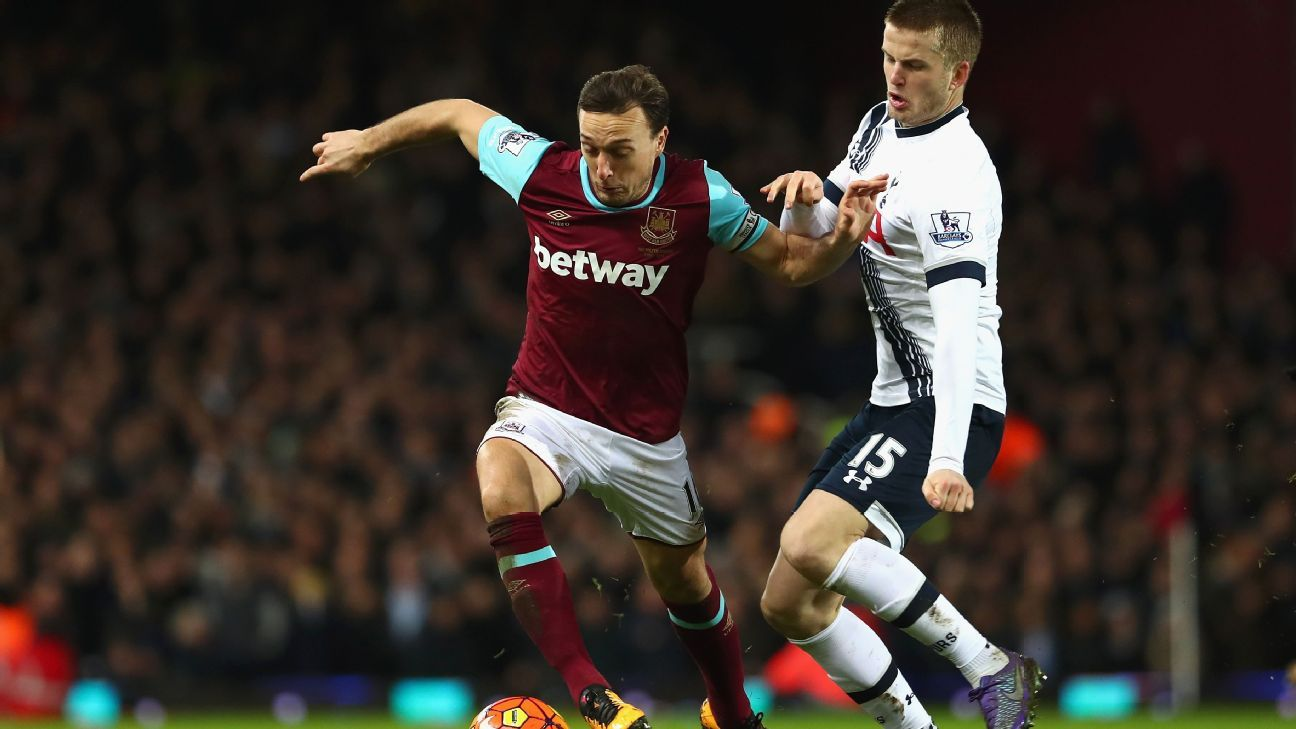 West Ham midfielder Mark Noble