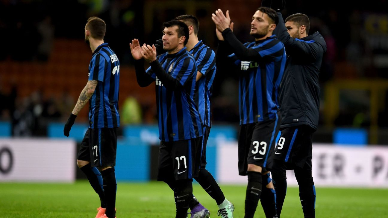 Inter Milan players vs. Juventus