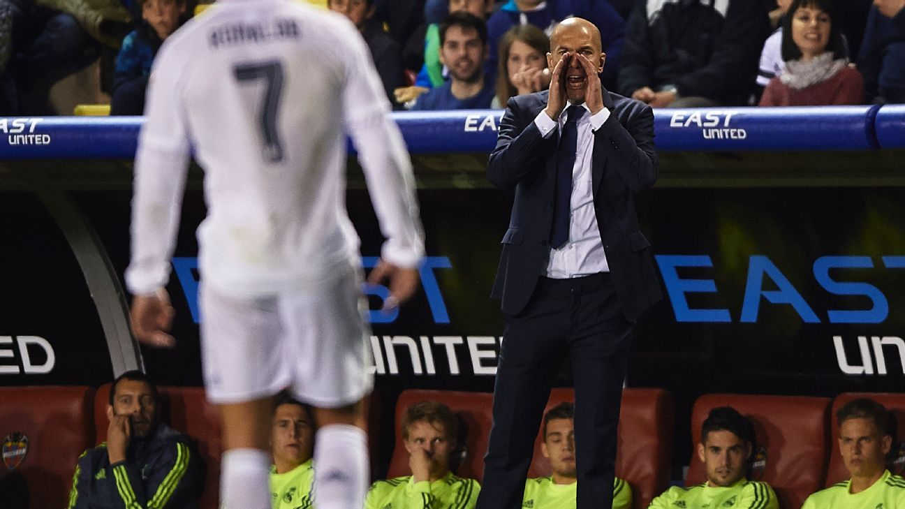 Zidane yelling to Ronaldo