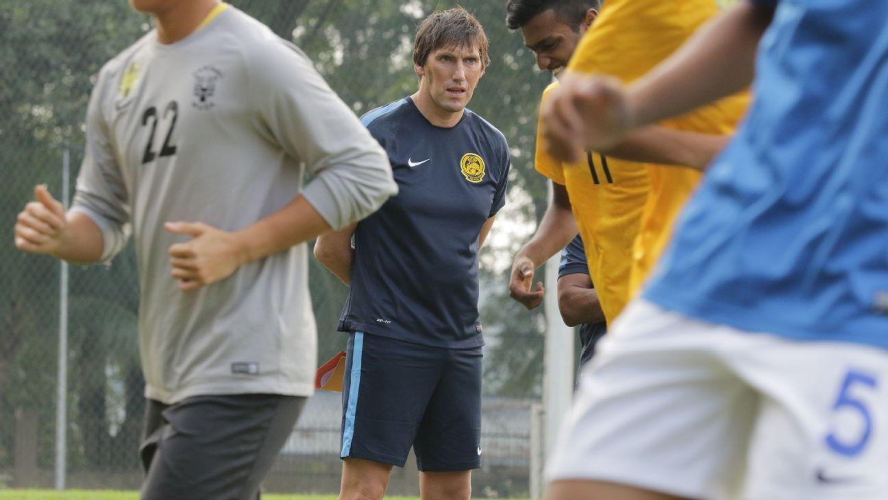Malaysia U23 coach Frank Bernhardt