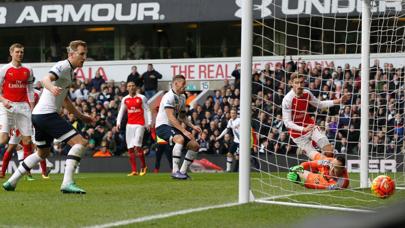 Slack defending from Arsenal allowed Toby Alderweireld to pull Tottenham level 1-1 in the second half.