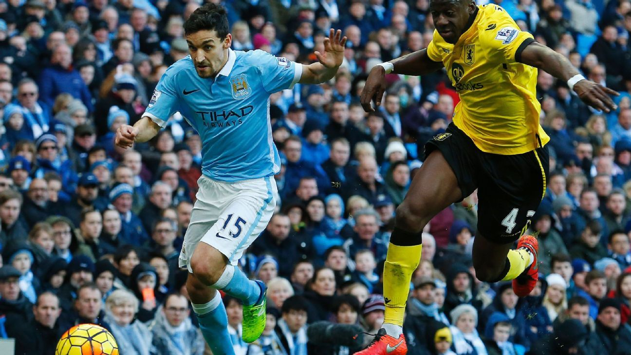 Aston Villa were undone by Jesus Navas' pace in Manchester City's 4-0 triumph on Saturday.