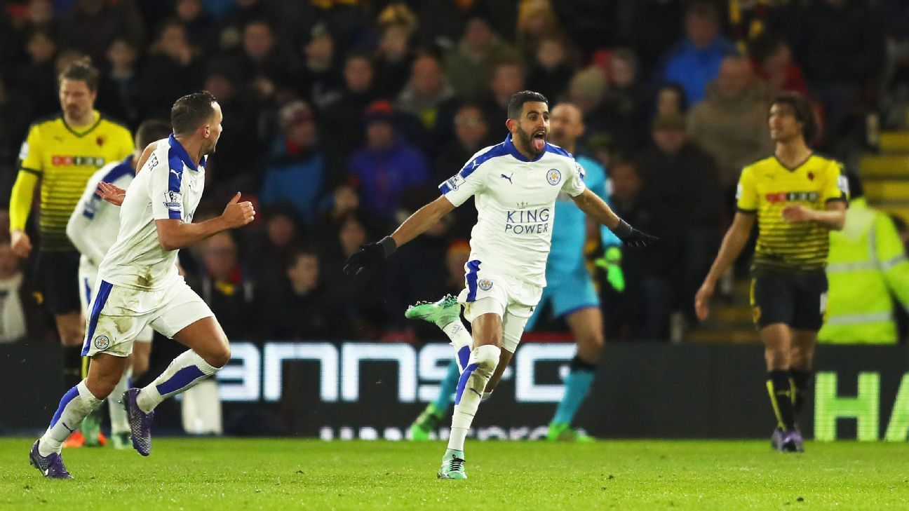 The Leicester City dream tour continued at Watford on Saturday thanks to Riyad Mahrez's strike.