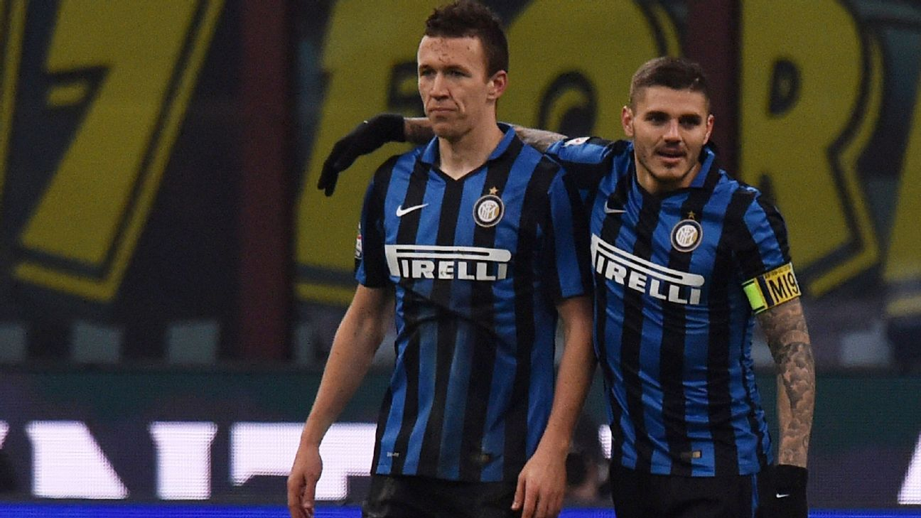 Inter Milan duo Ivan Perisic and Mauro Icardi