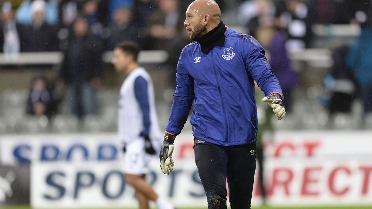 Colorado Rapids target Tim Howard has been demoted to backup goalkeeper at Everton.