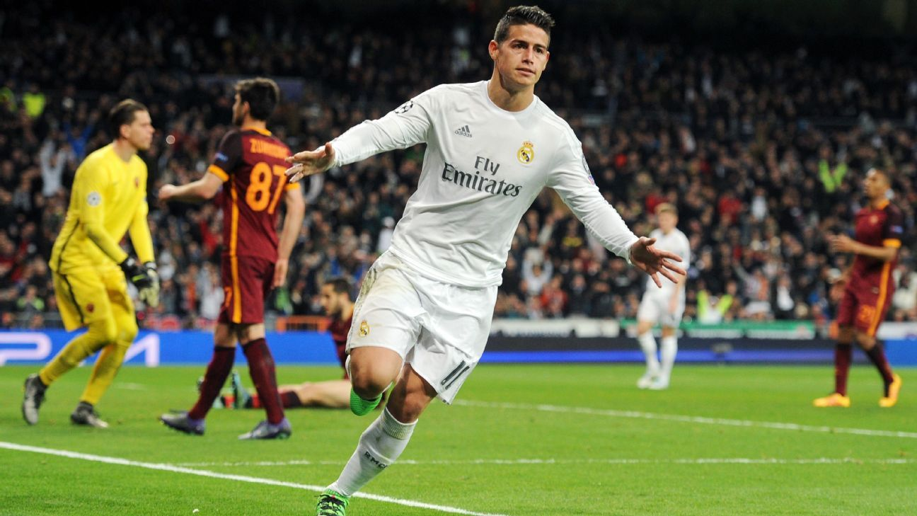Image result for James Rodriguez -Karim Benzema Eibar Real Madrid