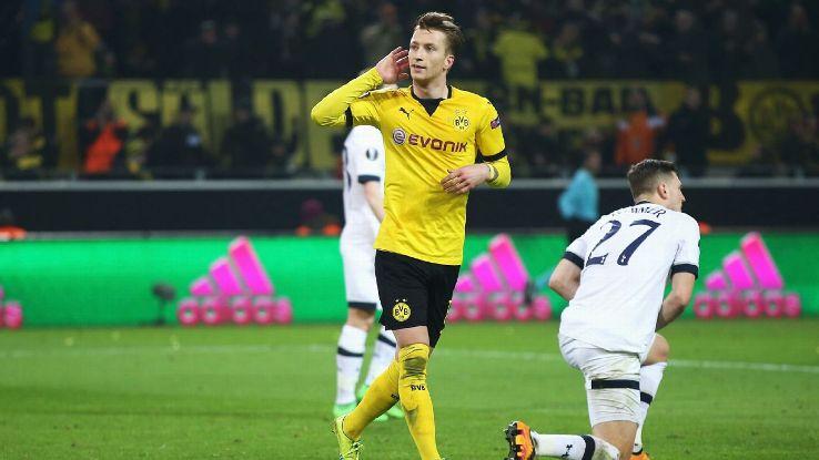 Borussia Dortmund Dominate Tottenham In Europa League