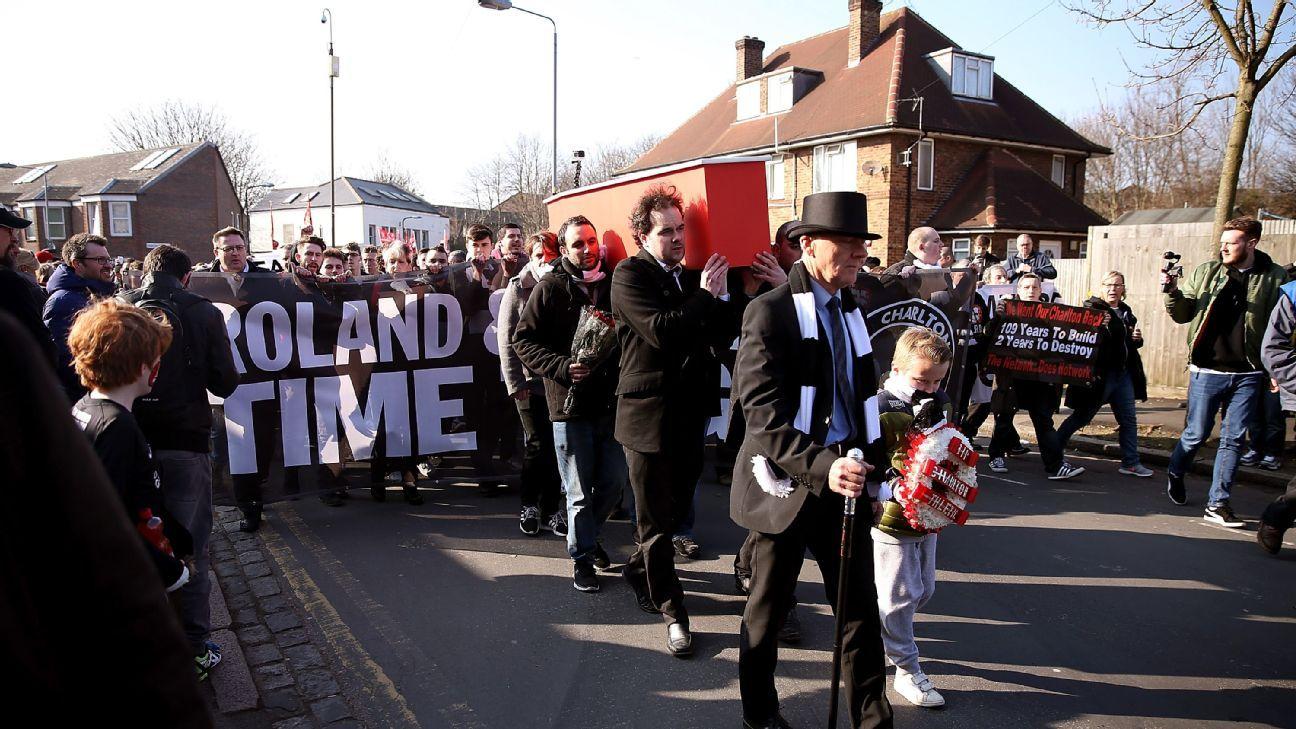 Charlton protest