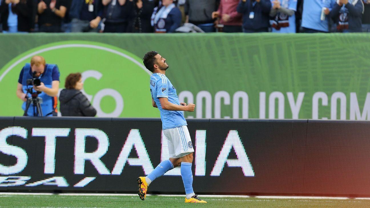 New York City FC striker David Villa