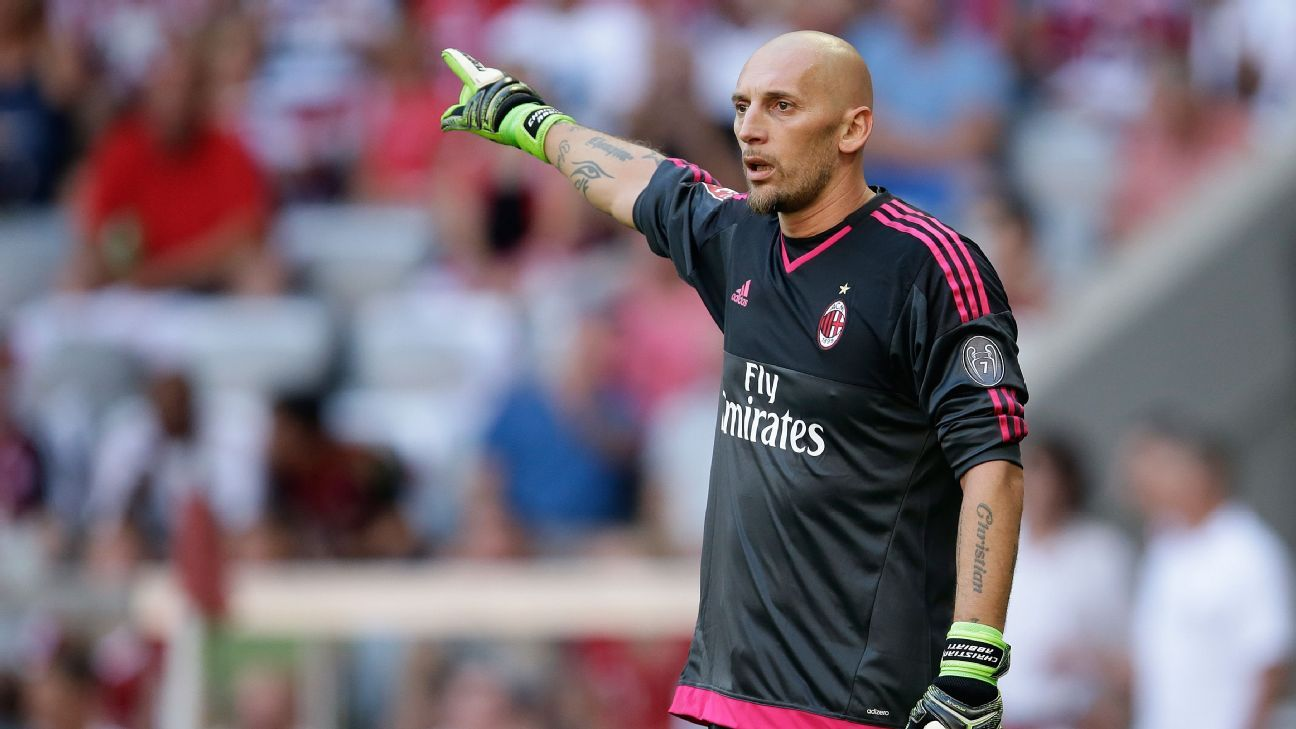 Christian Abbiati of AC Milan during the AUDI Cup bronze final match between Tottenham Hotspur and AC Milan on August 5, 2015 at the Allianz Arena in Munich, Germany.