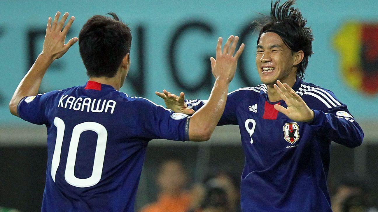 Japan duo Shinji Kagawa and Shinji Okazaki