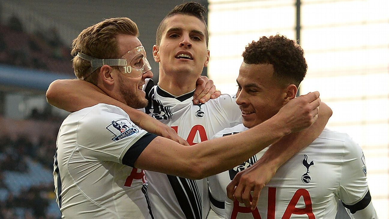 Harry Kane, Erik Lamela and Dele Alli