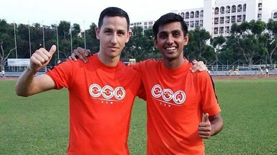 Hougang's Stipe Plazibat and Delwinder Singh