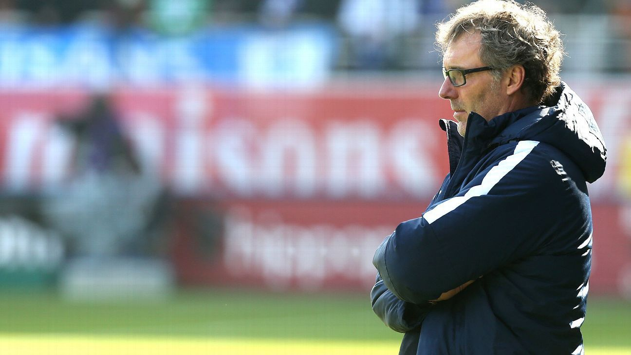 Laurent Blanc on sideline