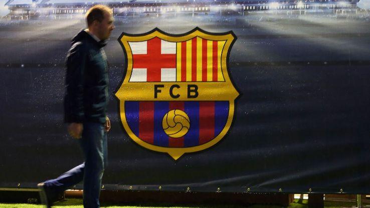 The Barcelona club badge