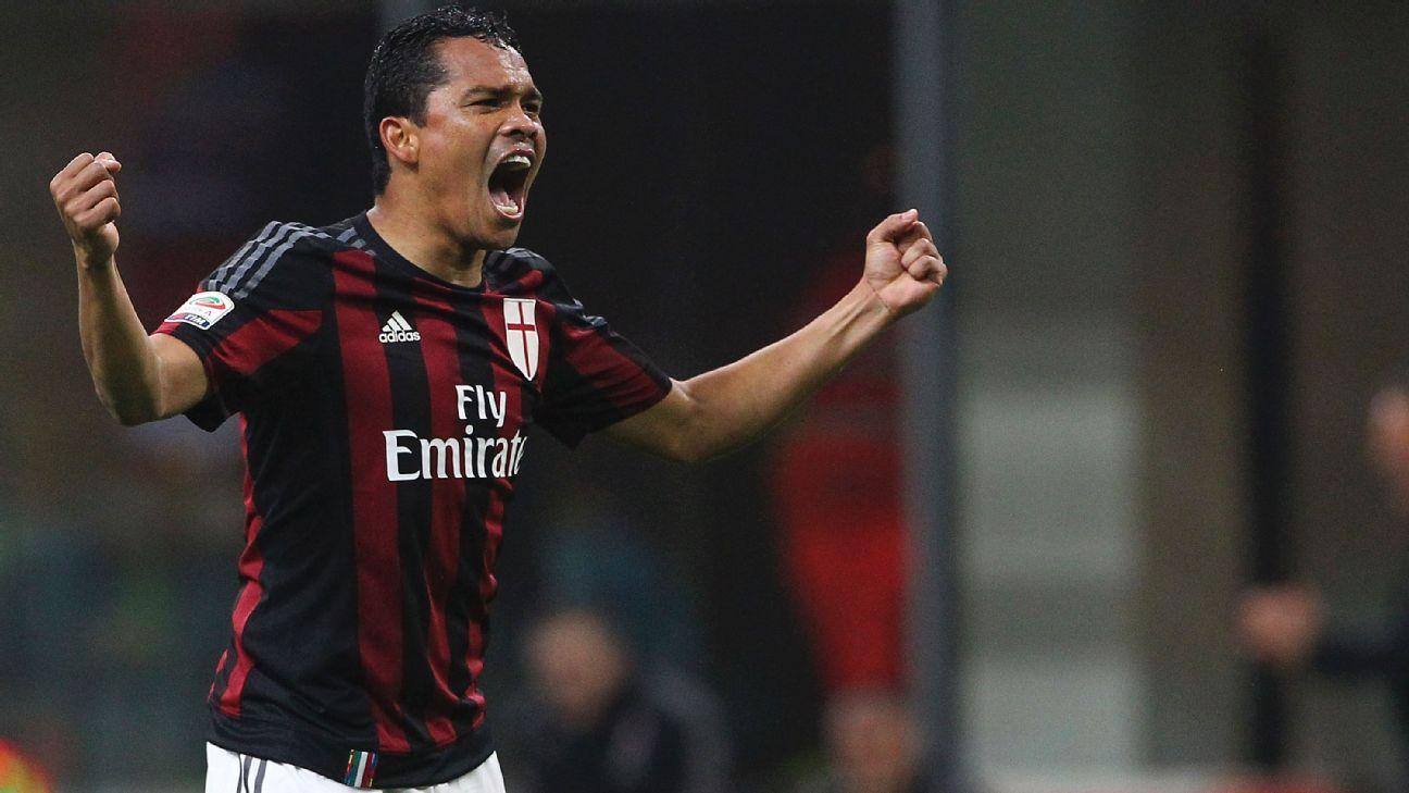 AC Milan striker Carlos Bacca