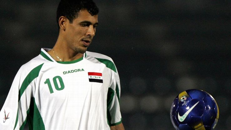 Iraq striker Younis Mahmoud