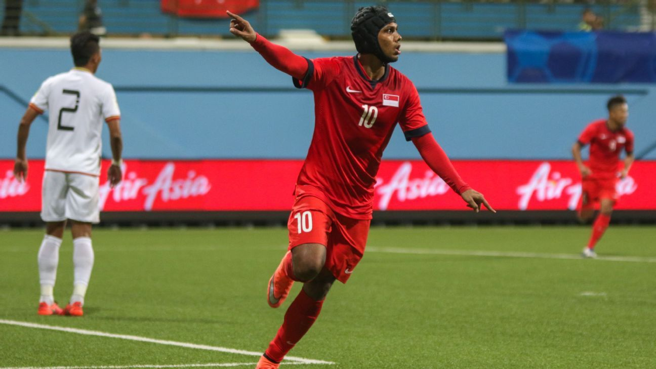 Fazrul Nawaz scores winner for Singapore in 2-1 friendly victory over Myanmar