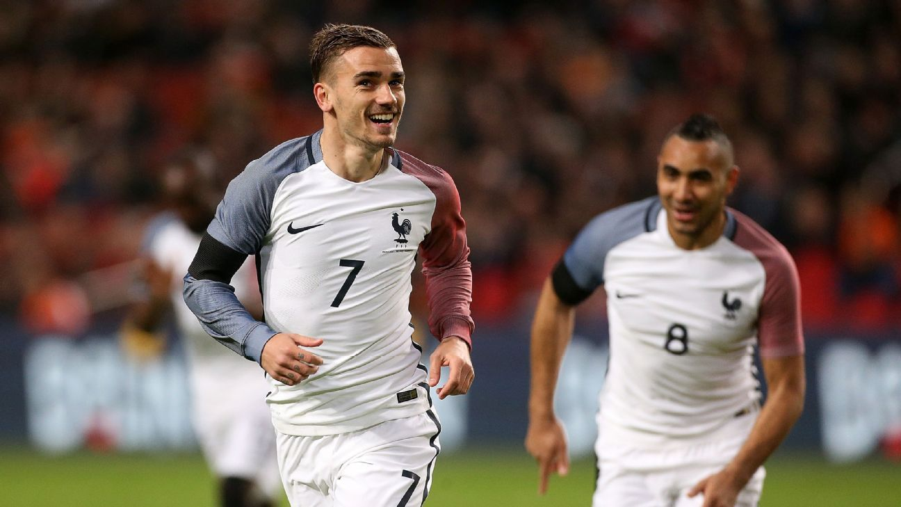 Antoine Griezmann and Dimitri Payet