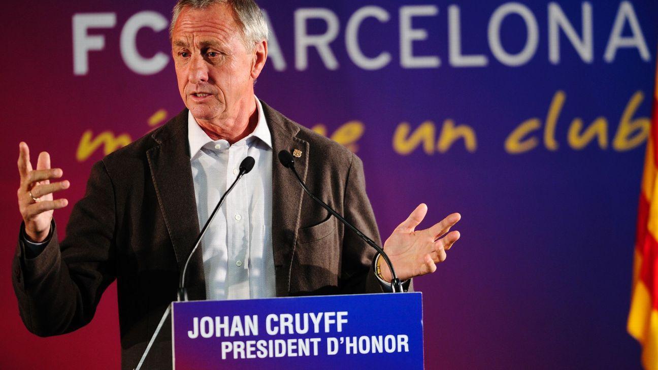 Barcelona to name new training ground stadium after club legend Johan Cruyff