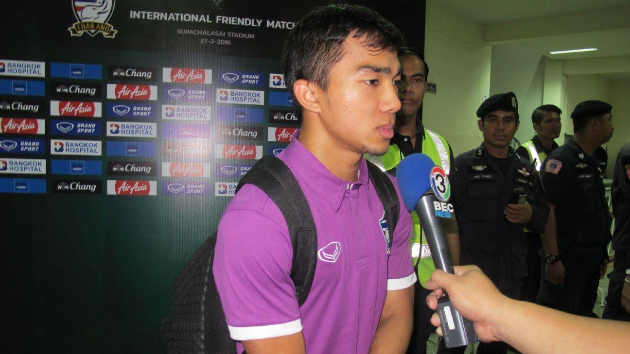 Thai midfielder Chanathip Songkrasin
