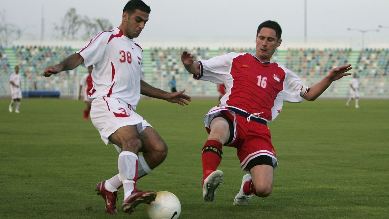 Singapore defender Daniel Bennett