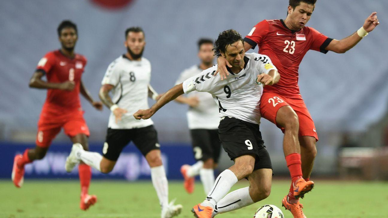 Afghanistan's midfielder Khaibar Amani