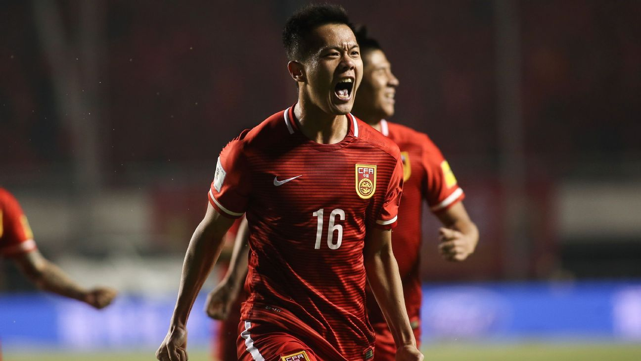 China midfielder Huang Bowen
