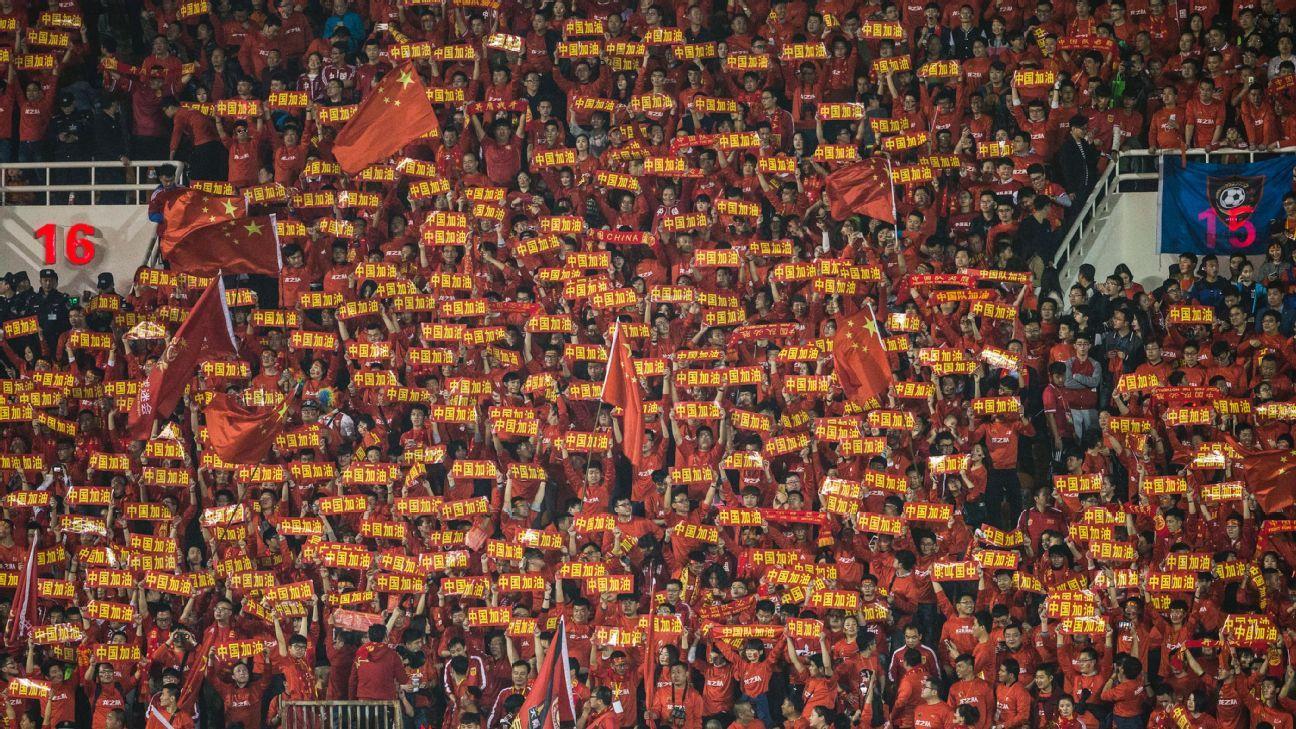China football fans