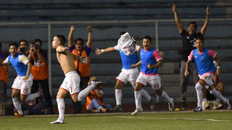 Philippines midfielder Iain Ramsay