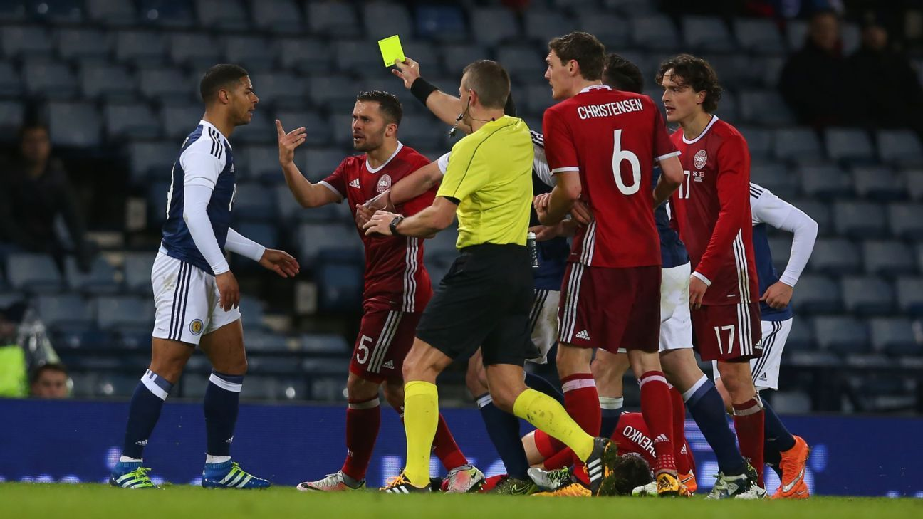 Scotland's Liam Bridcutt against Denmark