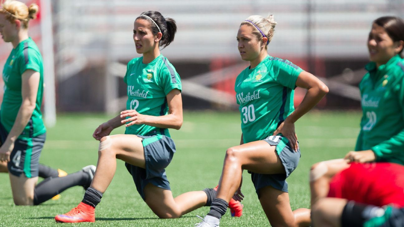 Matildas training