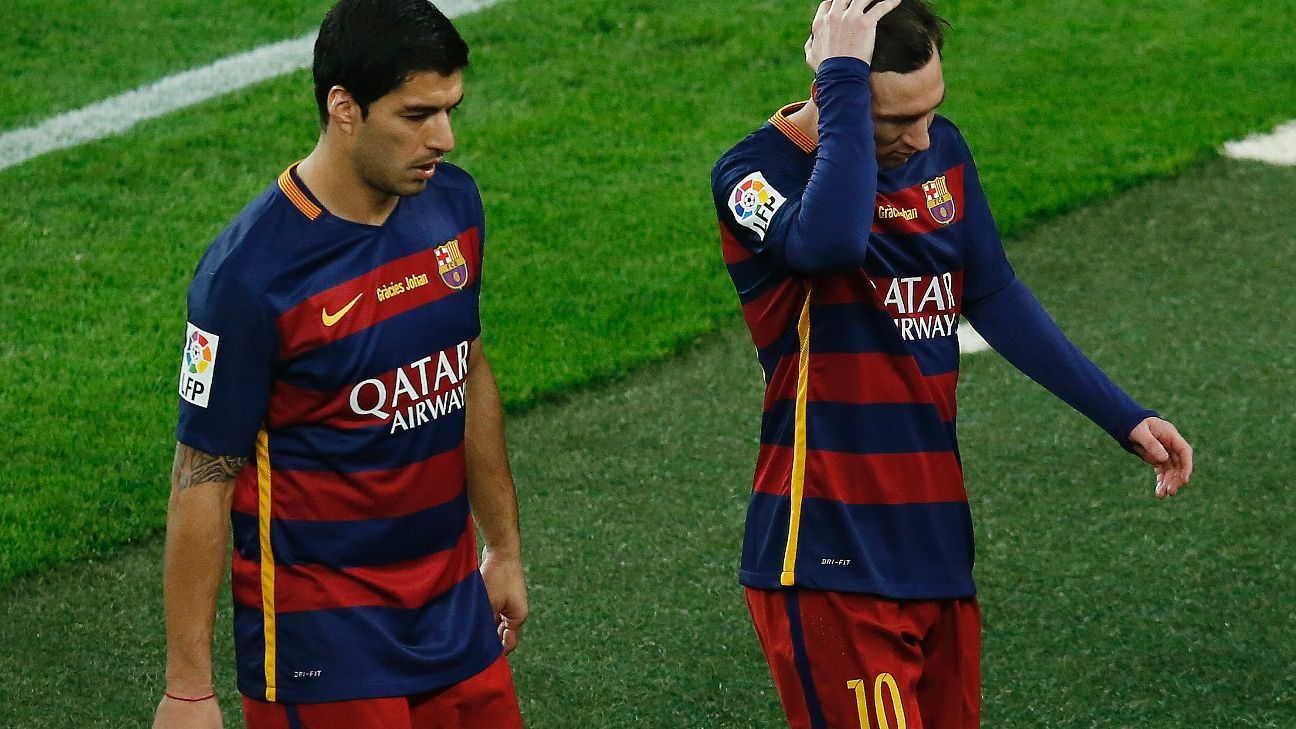 Messi and Suarez woe post Clasico