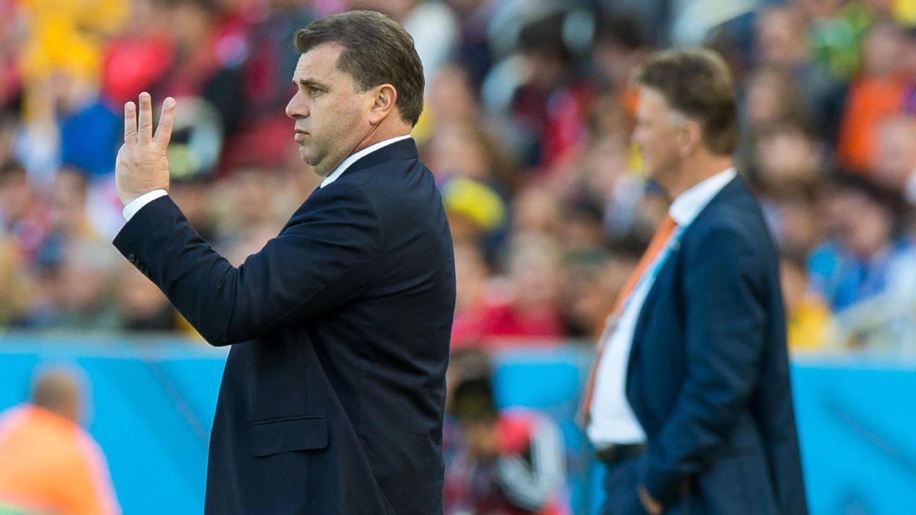 Australia coach Ange Postecoglou at 2014 World Cup