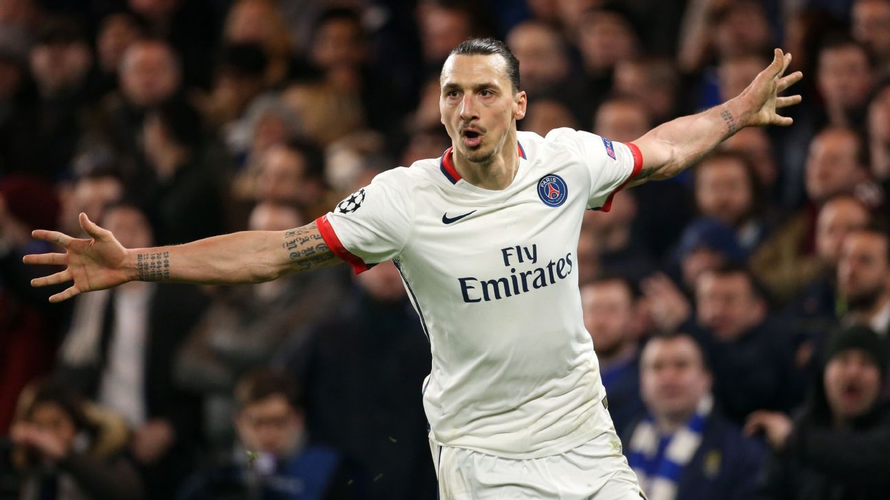 Paris Saint-Germain striker Zlatan Ibrahimovic