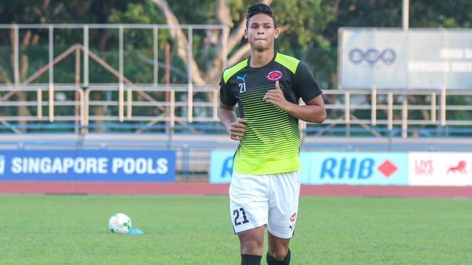 Home United defender Irfan Fandi